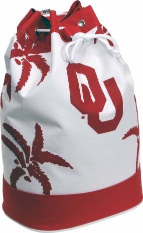 Oklahoma Sooners Palm Tree Vertical Duffel