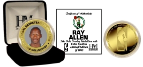 Ray Allen 24KT Gold and Color Coin