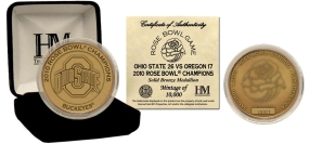 Ohio State Buckeyes Antique Bronze 2010 Rose Bowl Champs Commemorative Coin