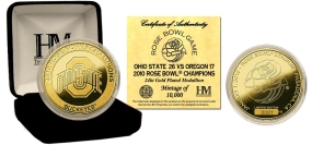 Ohio State Buckeyes 24KT Gold 2010 Rose Bowl Champs Commemorative Coin