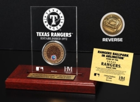 Rangers Ballpark in Arlington Infield Dirt Coin Etched Acrylic