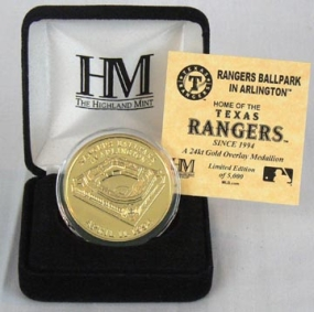 Rangers Ballpark 24KT Gold Commemorative Coin