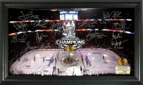 Chicago Blackhawks 2010 Stanley Cup Champs Signature Rink