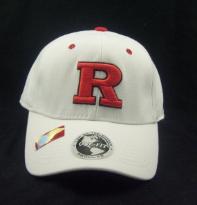 Rutgers Scarlet Knights White One Fit Hat