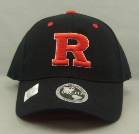 Rutgers Scarlet Knights Black One Fit Hat