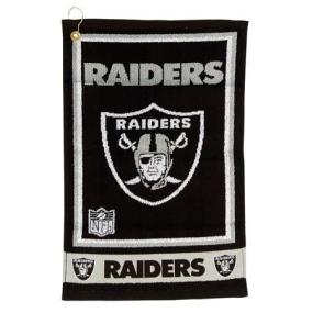 Oakland Raiders Jacquard Golf Towel