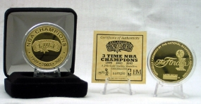 San Antonio Spurs 3 Time Champion 24KT Gold Coin