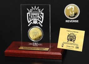 Sacramento Kings 24KT Gold Coin Etched Acrylic
