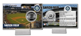Safeco Field Silver Plate Coin Card