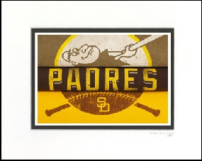 San Diego Padres Vintage T-Shirt Sports Art