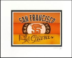 San Francisco Giants Vintage T-Shirt Sports Art