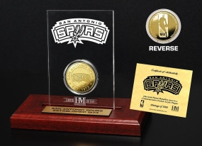 San Antonio Spurs 24KT Gold Coin Etched Acrylic