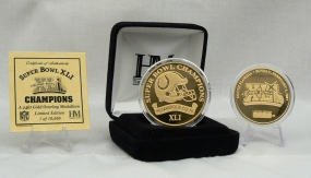Super Bowl XLI 24KT Gold Champions Coin