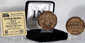 Super Bowl XLI Bronze Flip Coin