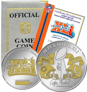 Super Bowl XLI Official 2-Tone Flip Coin