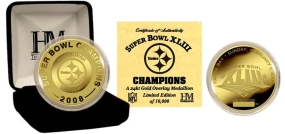 Pittsburgh Steelers Super Bowl XLIII Champions 24KT Gold Coin