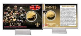 Saints Super Bowl 44 Champs Bronze Coin Card
