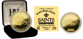 Super Bowl XLIV Champions 24KT Gold Coin