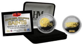 Super Bowl 44 Champs 2 Tone Coin