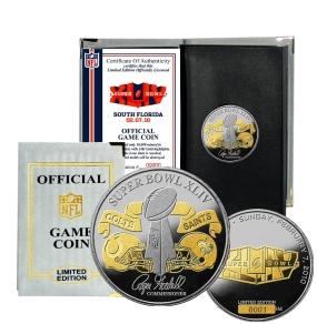 Super Bowl XLIV Official 2-Tone Flip Coin