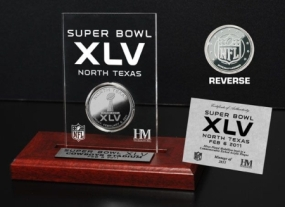 Super Bowl XLVCommemorative Silver Coin Etched Acrylic