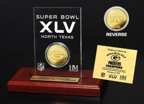 Super Bowl XLV Champions 24KT Gold Etched Acrylic