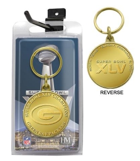 Super Bowl XLV Champions Coin Keychain