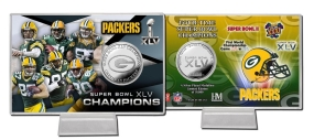 Super Bowl XLV Silver Coin Card