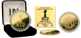 Super Bowl XLV Commemorative 24kt Gold Coin