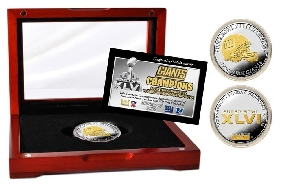 Super Bowl XLVI Champions 2-Tone Coin