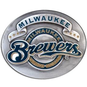 MLB Belt Buckle - Milwaukee Brewers