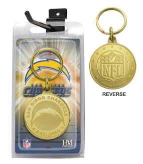 San Diego Chargers Bronze Bullion Keychain