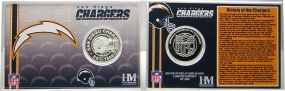 San Diego Chargers Team History Coin Card