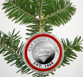 San Diego Padres Silver Coin Ornament