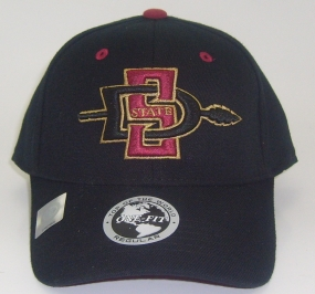 San Diego State Aztecs Black One Fit Hat