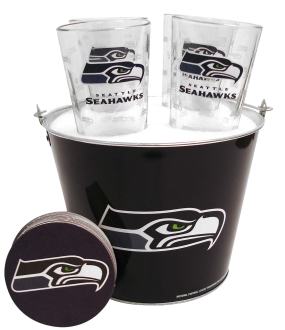 Seattle Seahawks Gift Bucket Set