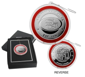 San Francisco 49ers  Silver Coin Ornament