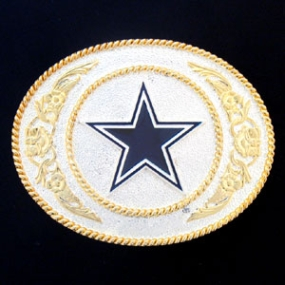 Dallas Cowboys - Gold and Silver Toned NFL Logo Buckle