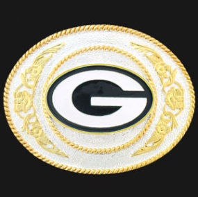 Green Bay Packers - Gold and Silver Toned NFL Logo Buckle
