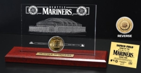 Safeco Field 24KT Gold Coin Etched Acrylic