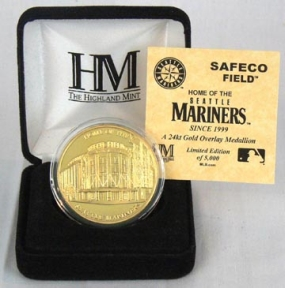 Safeco Field 24KT Gold Commemorative Coin