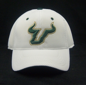 South Florida Bulls White Elite One Fit Hat