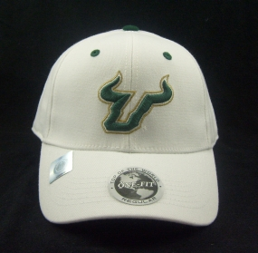 South Florida Bulls White One Fit Hat