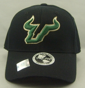 South Florida Bulls Black One Fit Hat