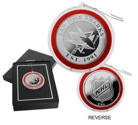 San Jose Sharks Silver Coin Ornament