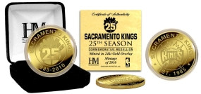 Kings Silver 25th Anniversary 24KT Gold Commemorative Coin