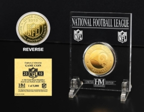St. Louis Rams 24KT Gold Game Coin