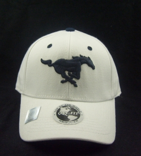 SMU Mustangs White One Fit Hat