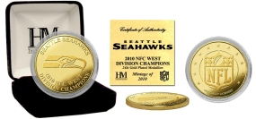 Seattle Seahawks '10 NFC West Division Champions 24KT Gold Coin