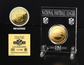 Seattle Seahawks 24KT Gold Game Coin